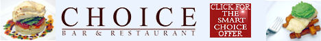 CLICK HERE for special offers at Choice Restaurant
