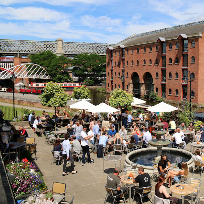 Manchester Restaurants with outside dining
